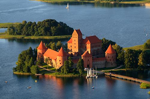 Trakai Castle in Trakai
